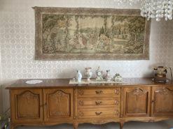 Living Room, Antique Sideboard, Solid Wod