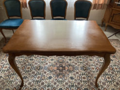 Dining Room Set: Table and 4 Upholstered Chairs