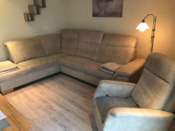 Grey Corner Sofa & Matching Arm Chair, Living Room