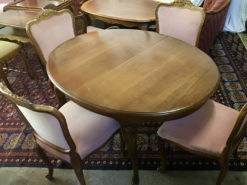 Oval Dining Table 4 Upholstered Chairs
