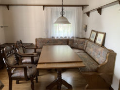 Dining Room Furniture Set, Table, Bench, Cabinet