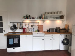White Kitchen, Wooden Worktop, Incl. Electrical Appliances