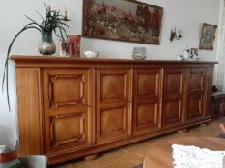 Midcentury 5-Door Highboard, Waltnut Wood
