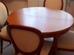 Round Extendable Dining Table With 6 Chairs