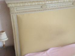 French Cremewhite Bed, King Size Louis XVI, Vintage