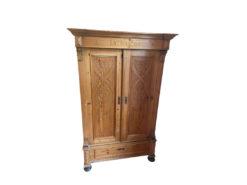 Cabinet, Softwood, Jugendstil, Floral Carvings