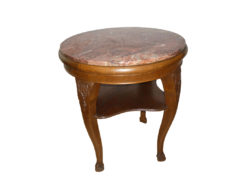 Side Table, Solid Wood, Marble Top, 66 x 66cm