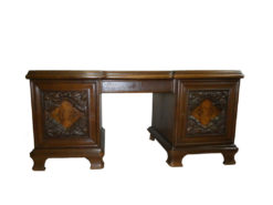 Heavy Desk, Solid Wood, Carvings, Study