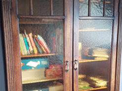 Bookcase, Display Cabinet, Solid Wood