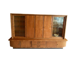 Midcentury Living Room Cabinet, Solid Wood