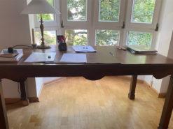 Heavy Wood Desk, Study, Midcentury