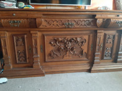 Heavy Antique Sideboard, Solid Wood