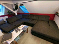Dark Grey Designer Corner Sofa, Living Room