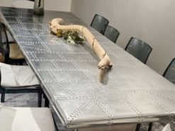 Unique Dining Table Made Of Aircraft Aluminum