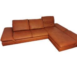 Brown Leather Sofa, L-Shape, Living Room