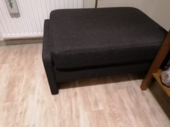 Dark Grey Bench With Storage, Cubic-Shaped