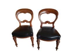 3 Restored Mahogany Wood Chairs, 19th Century