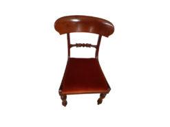 1 Restored Mahogany Wood Chairs, 19th Century