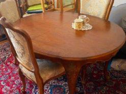Ova Dining Table, 4 Chairs, Armchair, 20th Century