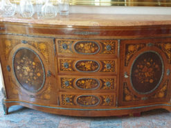 Sideboard, Chest of Drawers, Solid Wood, Inlays