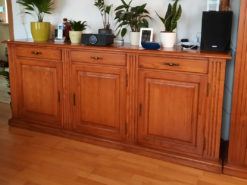 Highboard, Solid Cherry Wood, Living Room