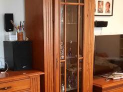 Vitrine, Solid Cherry Tree Wood, Living Room