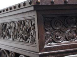 Heavy Antqiue Wood Desk, Animal Shaped Legs
