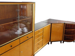 Living Room Wall Unit, Solid Wood, 50s, Display Cabinet