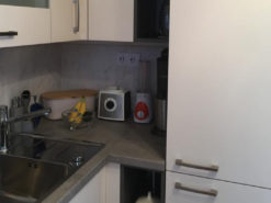 Modern kKtchen With Electrical Appliances, Grey