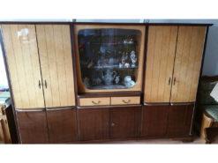 iving Room Display Cabinet, Solid Wood