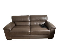 2 Brown Leather Sofas, Living Room