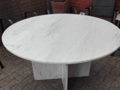 Round Dining Table, 130cm x 130cm, Marble