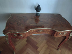 Antique Desk With Drawers, Solid Wood