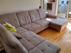 Grey Corner Sofa, Segmüller, Model Infinity