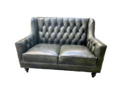 Massivum, Chesterfield, Bozen, 2-Seater, Green Leather