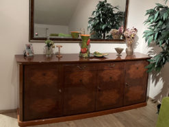 Commode With Mirror, Solid Wood