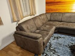 Grey Corner Sofa, L-Shape, Storage, Living Room