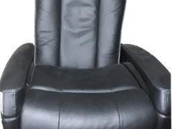 2-Part Massage Armchair, Black, Leather