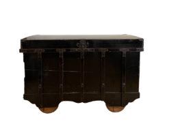 Antique Wood Chest, Weels, Storage Furniture