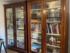 Bookcase, Display Cabinet, Solid Wood, Glass